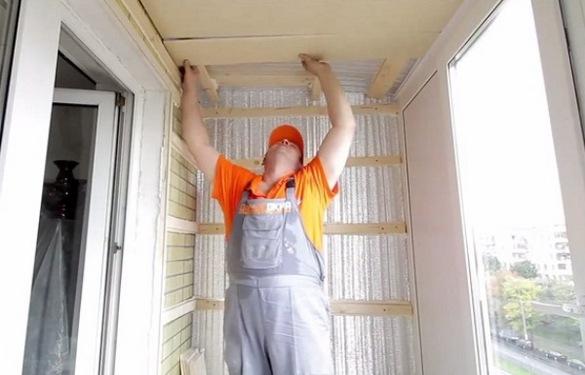 Утепление балкона своими руками видео и фото