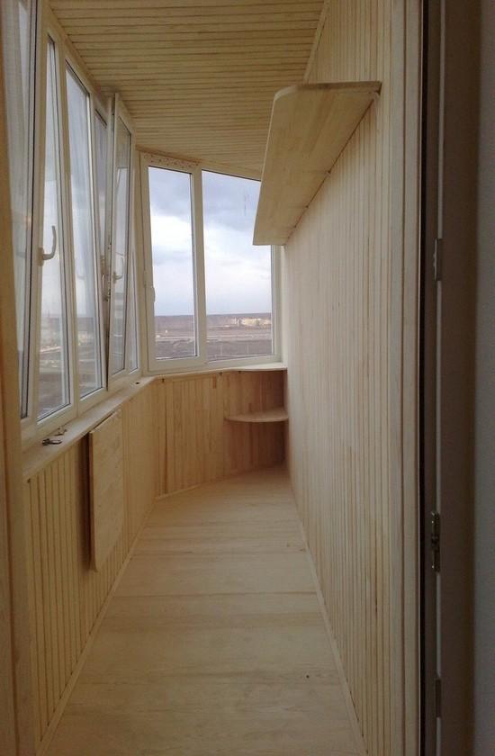 Обшивка вагонкой балконов и лоджий в тюмени - балкон-комплек.